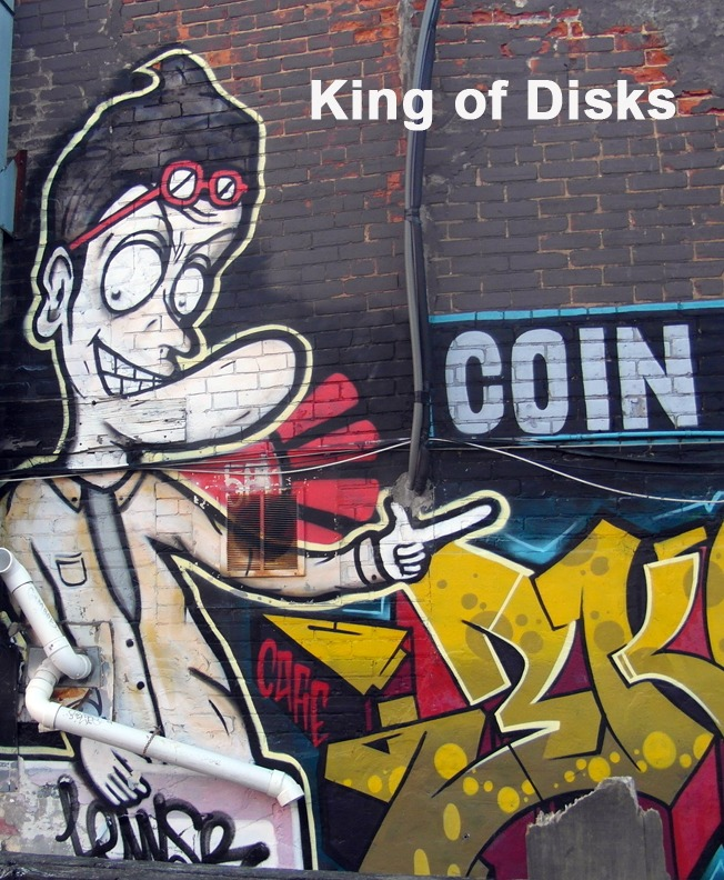 King of Disks - Toronto Graffiti Tarot