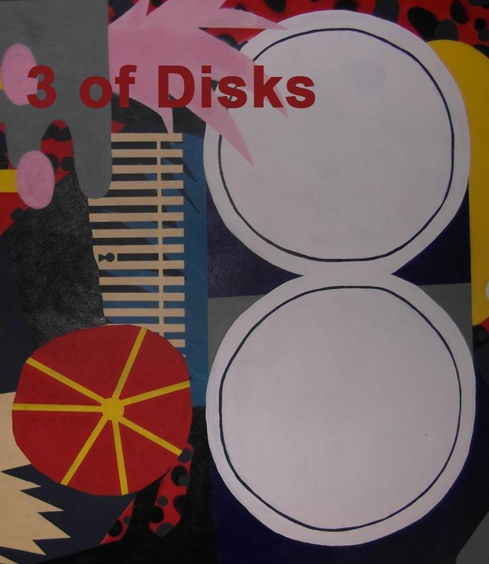 3 of Disks - Toronto Graffiti Tarot