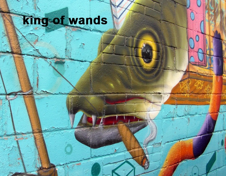 King of Wands - Toronto Graffiti Tarot