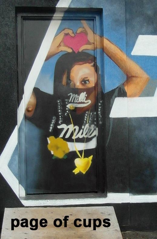 Page of Cups - Toronto Graffiti Tarot