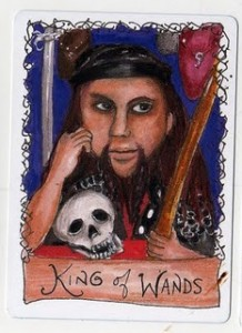 King of Wands from the All Hallow's Deck