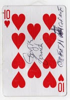 Ten of Hearts from Mean Jean's Found Deck