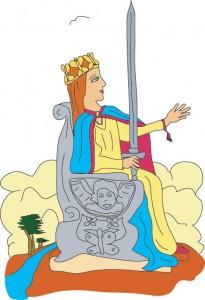 Queen of Swords from Georgie's Deck