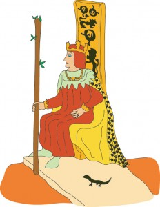 King of Wands from Georgie's Tarot