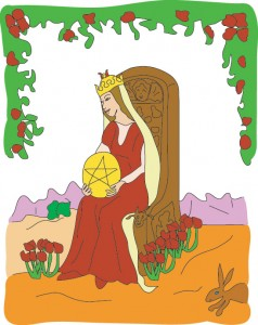 Queen of Disks from Georgie's Tarot