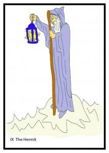 #9 The Hermit from Georgie's Tarot