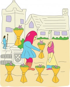 6 of Cups from Georgie's Tarot
