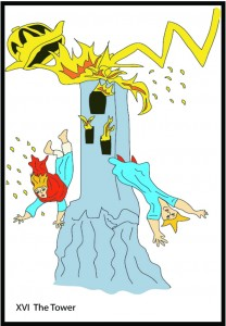 #16 The Tower from Georgie's Tarot