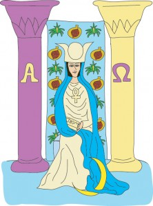 The High Priestess from Georgie's Tarot