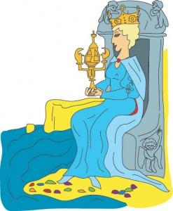 Queen of Cups from Georgie's Tarot