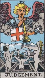#20 Judgement from the Rider Waite Smith Tarot