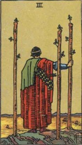 3 of Wands from the Rider Waite Smith Tarot