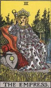 #3 The Empress from the Rider Waite Smith Tarot