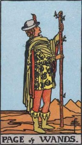 Page of Wands from the Smith Waite Tarot