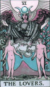 high priestess as the lovers' angel