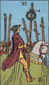 6 of Wands from the Rider Waite Smith Tarot