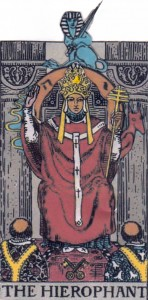 Wheel of Fortune spinning the Hierophant's throne, Jupiter in Taurus