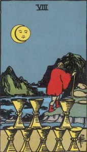 8 of Cups from the Rider Waite Smith Tarot