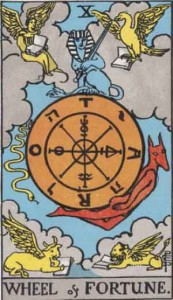 #10 Wheel of Fortune from the Smith Waite Tarot
