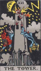 #16 The Tower from the Rider Waite Smith Tarot