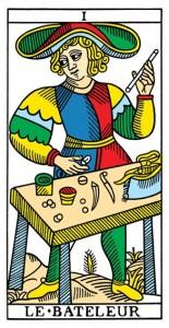 Le Bateleur or The Magician from Yoav Ben-Dov's CBD Tarot