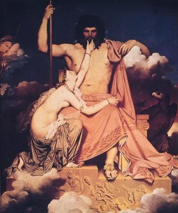 Jupiter and Thetis by Jean Auguste Dominique Ingres (1780–1867)