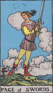 Page of Swords from the Rider Waite Smith Tarot