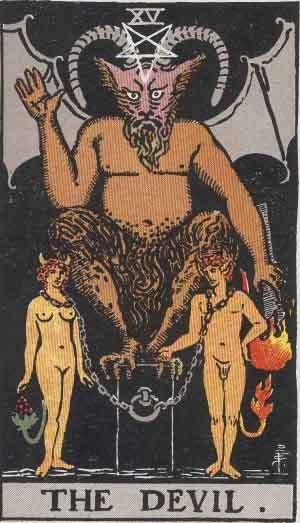 #15 The Devil from the Rider Waite Smith Tarot