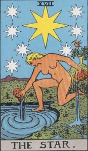 #17 The Star from the Smith Waite Tarot