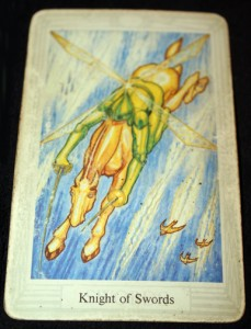 The Knight of Swords from the Thoth Tarot