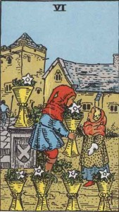 Six of Cups from the Rider Waite Smith Tarot