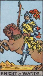 Knight of Wands from the Rider Waite Smith Tarot