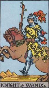 Knight of Wands from the Rider Waite Smith Tarot