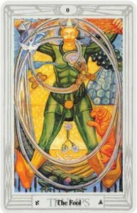 #0 The Fool, Thoth Tarot by Frieda Harris and Aleister Crowley