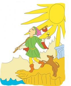 0, the Fool from Georgie's Tarot