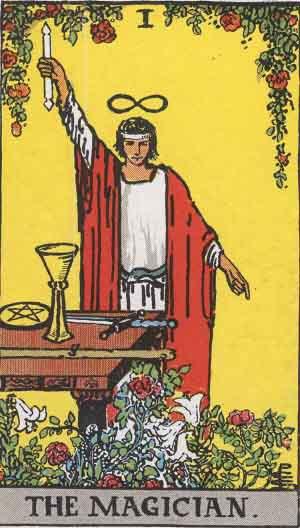 #1 The Magician from the Smith Waite Tarot
