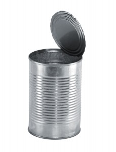 tin can without label