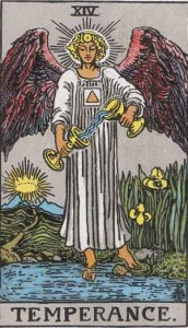 #14 Temperance from the Smith Waite Tarot