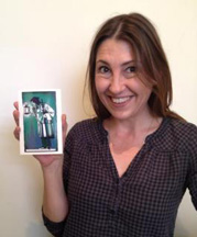 Georgianna with the Hermit from her deck with <a href=