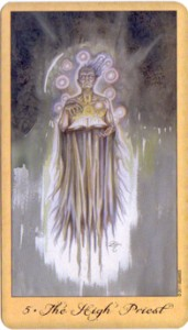 #5 The High Priest from Lisa Hunts' Ghost & Spirits Tarot