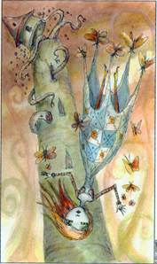 #16 The Tower from the Joie de Vivre Tarot by Paulina Cassidy