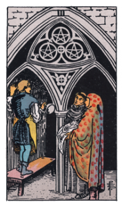 3 of Pentacles from the Smith Waite Tarot