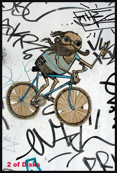 2 of Disks - T.O. Graffiti Tarot by Georgianna Boehnke