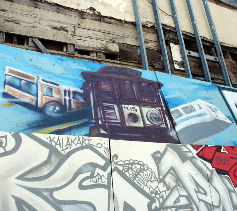 San Francisco Graffiti Tarot Chariot - 1