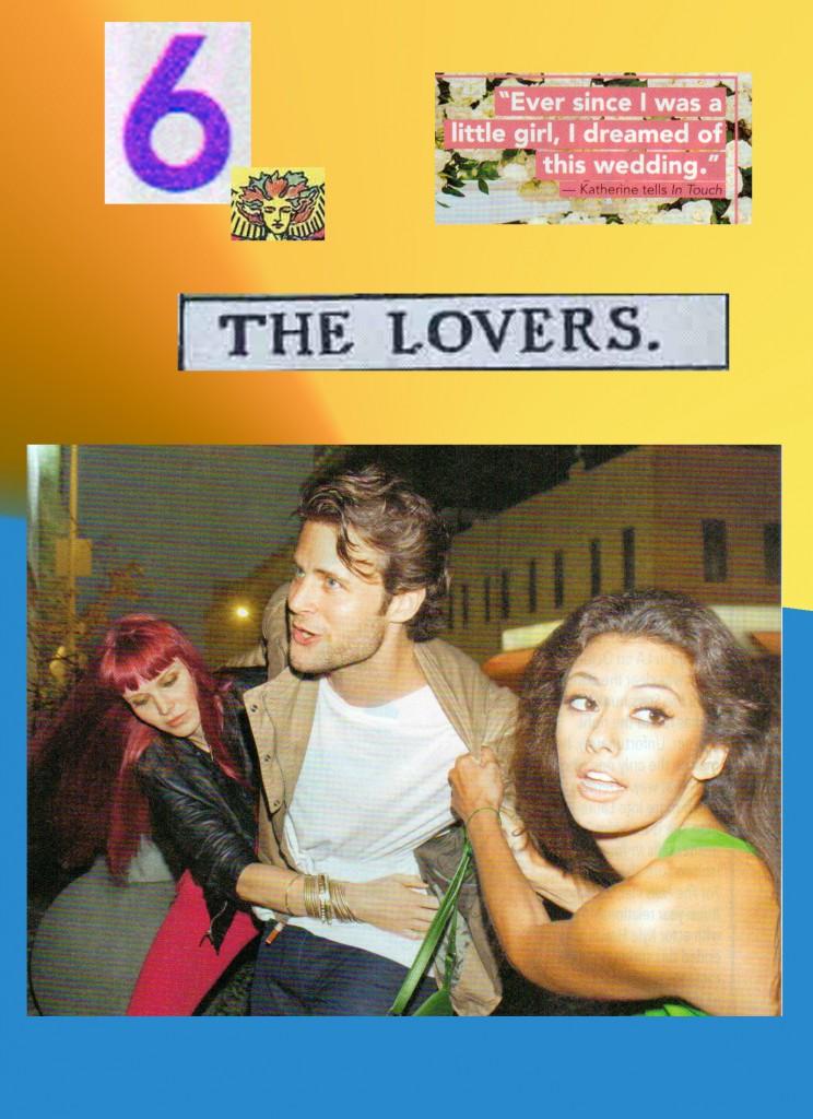 #6 The Lovers card from Georgie's Tabloid Tarot