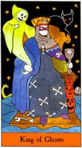 King of Ghosts from the Halloween Tarot - Kipling West and Karin Lee