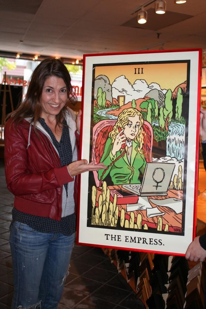 Georgianna with Empress card illustrated by Ivan Minsloff