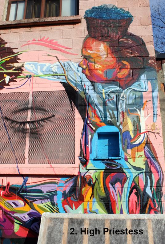 #2 The High Priestess from the Toronto Graffiti Tarot (Georgianna Boehnke)