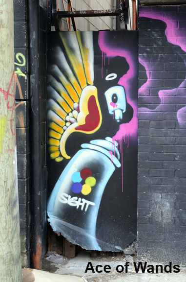 Graffiti Tarot Ace of Wands by Georgianna Boehnke