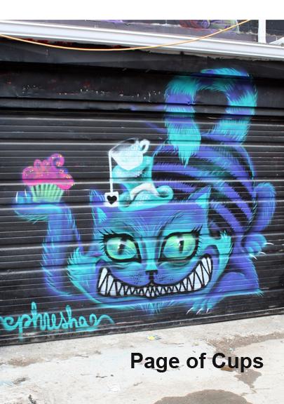Graffiti Tarot Page of Cups by Georgianna Boehnke